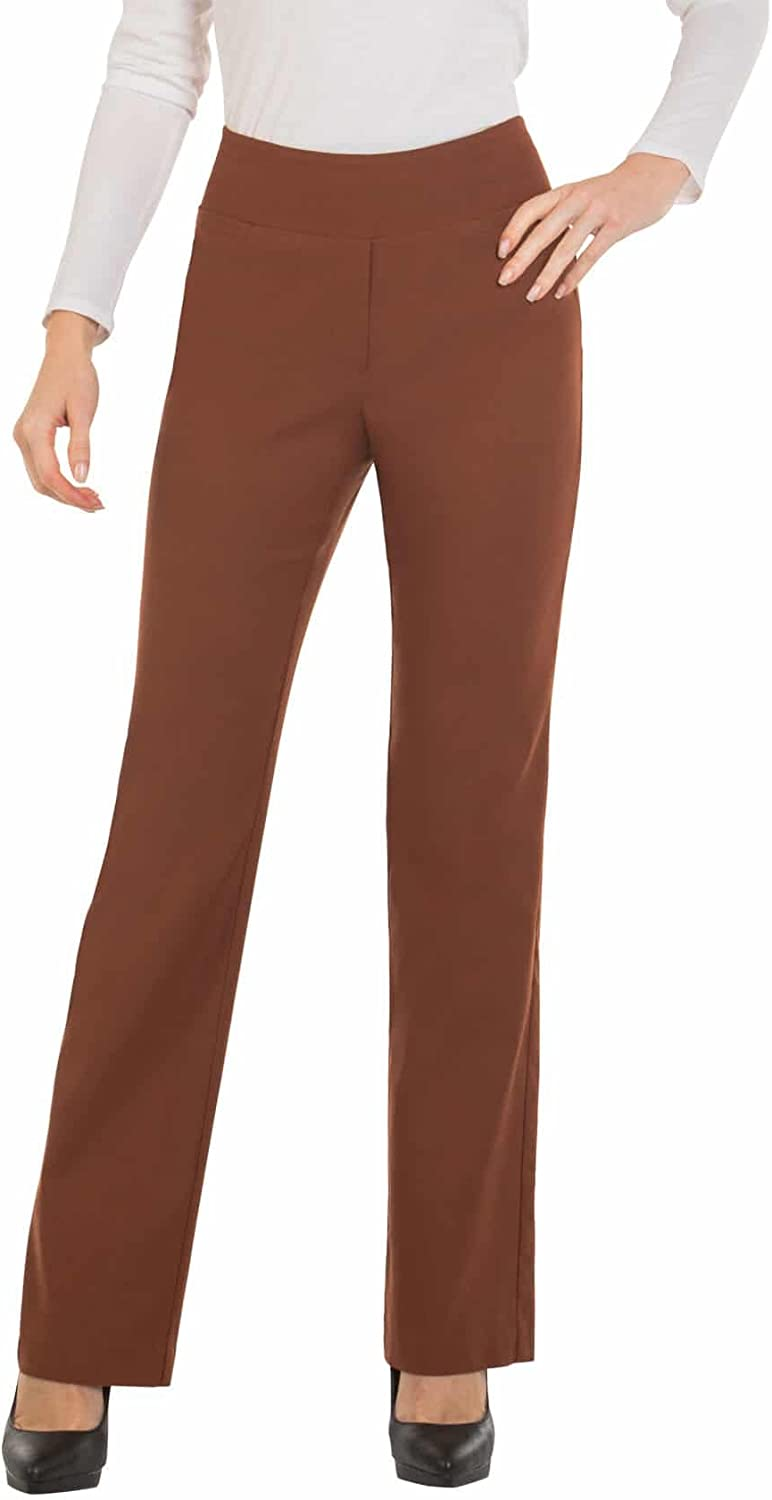 Bootcut Dress Pants for Women Stretch Comfy Work Pull on Womens Pant