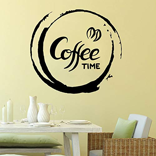 Tianpengyuanshuai Abnehmbare Kaffee Zeit Wandaufkleber PVC beweglichen Kinderzimmer Kinderzimmer Dekoration Aufkleber kreative Aufkleber 28X30cm