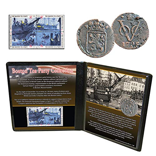 Boston Tea Party Coin and Stamp Collection