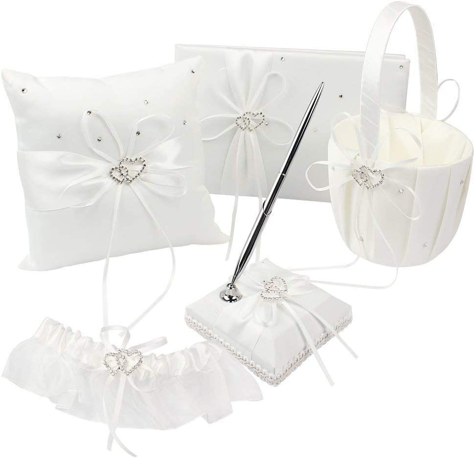 Max 62% OFF KANECH 5pcs Sets-Ivory Satin- Outlet SALE Wedding Basket Flower Girl Rin and