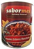 SABORMEX Frijoles Enteros Rancheros 3 kg Lata Grande de Frijoles Lista para Consumir Alubias Mexicanas para Tamales Quesadillas Fajitas Burritos