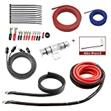 ROCKRIX Car Audio Cable Amp Wiring Kit - 20ft 4 Gauge Power Cable Amplifier Install Wiring Kit