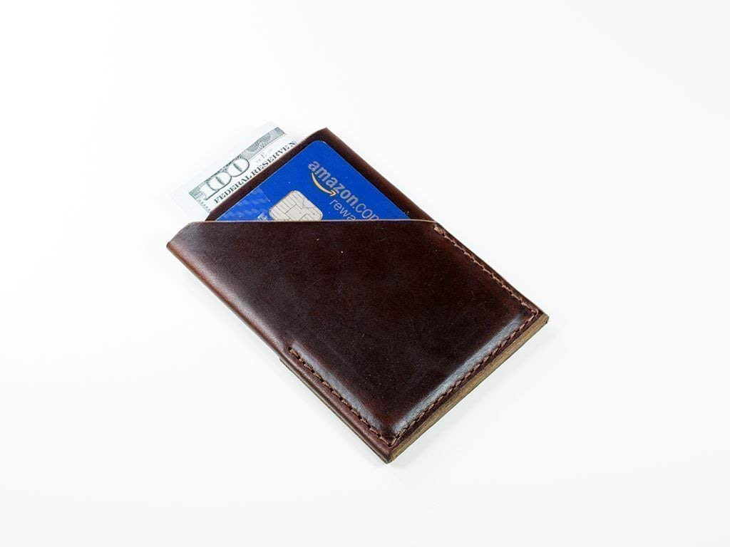 Slim Max 87% OFF Card Holder Made of Horween Minima Leather Some reservation Brown Chromexcel