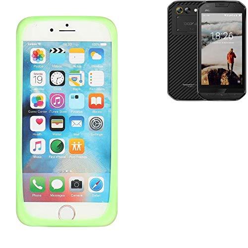 K-S-Trade® Für Doogee S30 Silikonbumper/Bumper Aus TPU, Grün Schutzrahmen Schutzring Smartphone Case Hülle Schutzhülle Für Doogee S30