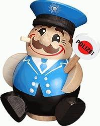 16 cm als Polizist ca Dekohelden24 Zauberhafter und detailgetreuer R/äuchermann