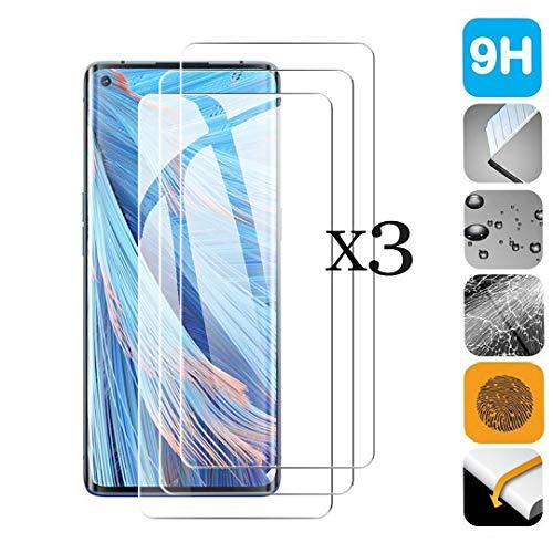 SCDMY Cristal Templado para OPPO Find X2 Neo, Película Protectora de Vidrio Puro, Resistente a rasguños, Anti-Huella Digital [ 6.5