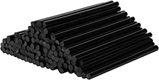 VINGO 55 pezzi di colla a caldo 11 x 200 mm stick di colla a caldo senza solventi rotondi Nero ad asciugatura rapida per comuni pistole per colla a caldo