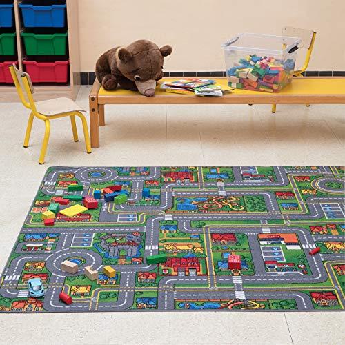Carpet Studio Weiche Haptik abgepasster Teppich Kinderzimmer für Junge und Mädchen, Rutschfester Rücken, praktische Reinigung, Spielfreundlich, Playcity 140x200, 140x200cm