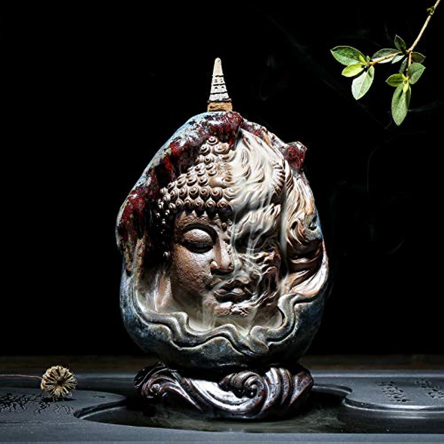 志す噛む分数PHILOGOD 陶器仏壇用香炉 ユニークなスタイリング逆流香炉 お香 ホルダー紫砂香立て (style2)