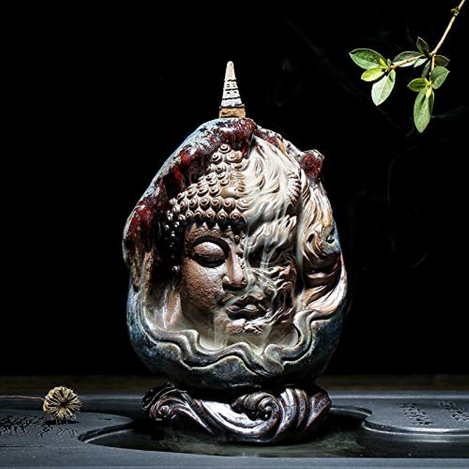 無関心ウェイド理解するPHILOGOD 陶器仏壇用香炉 ユニークなスタイリング逆流香炉 お香 ホルダー紫砂香立て