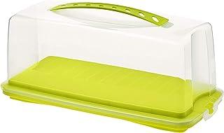 Rotho Fresh Conteneur à Gâteaux avec Capot et Poignée de Transport, Plastique (PP) sans BPA, Verte/Transparente, 36,0 X 1...