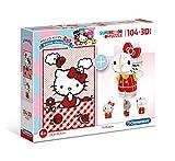 Clementoni- Puzzle 104 Piezas +Modelo 3D Hello Kitty (20171.6)