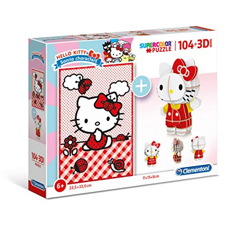 Puzzle 104 Piezas +Modelo 3D Hello Kitty (20171.6)