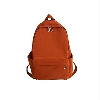 RUJNGYSVB Backpack New Waterproof Nylon Women Backpack Female Large Capacity Travel Backpack Teenage Girls Pure Color Schoolbag Book 29cm12cm40cm orange
