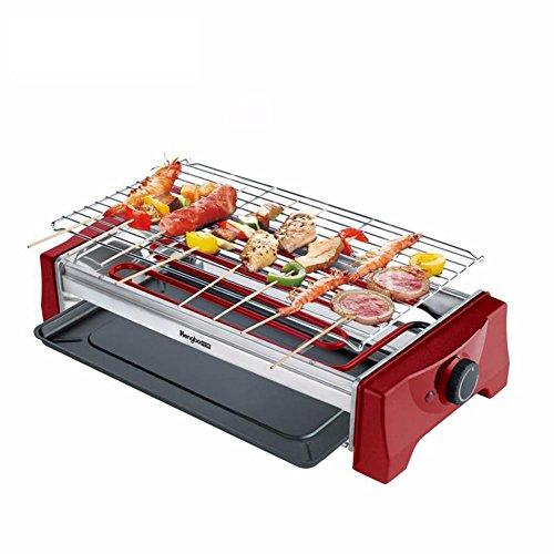 Eléctrico grande TeppanyakiRemovable BBQ Grill mesa antiadherente superficie de cocción con temperatura...