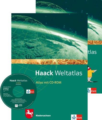 Haack Weltatlas. Ausgabe Niedersachsen Sekundarstufe I: Atlas mit CD-ROM und Arbeitsheft Kartenlesen Klasse 5-10