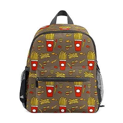 Sac à dos pour enfants de 1 à 6 ans - Sac à dos léger pour l'école maternelle - Frites avec frites et frites