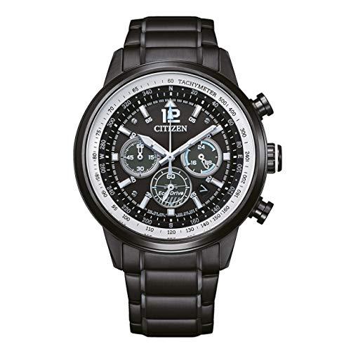 Citizen CA4475-89E Eco Drive - Reloj de pulsera para hombre (acero inoxidable, 10 bar, analógico, fecha, color negro)