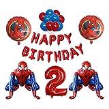 JSJJARF Globos 3D Foil Super Hero Hombre Hombre Globo Spiderman Fiesta de cumpleaños Decoración para niños Juguete para niños Bebé Ducha Globo Air Globo (Color : 2)