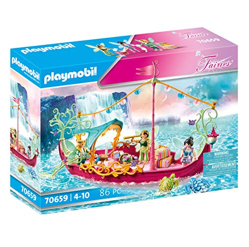 PLAYMOBIL Fairies70659 Romantisches Feenboot, Ab 4 Jahren