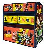 URBN Toys Disney & Marvel Holzregal, 6 Schubladen, 62 x 30 x 60 cm Aufbewahrungsboxen für Spielzeug, 2 Verschiedene Größen erhältlich Disney's Toy Story