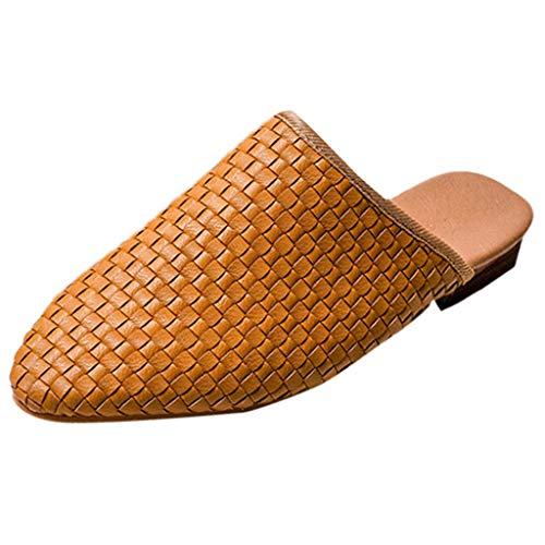 Vovotrade Dames Romeinse geweven ruimte met teenschoenen sandalen, handgeweven stijl, nieuwe mode