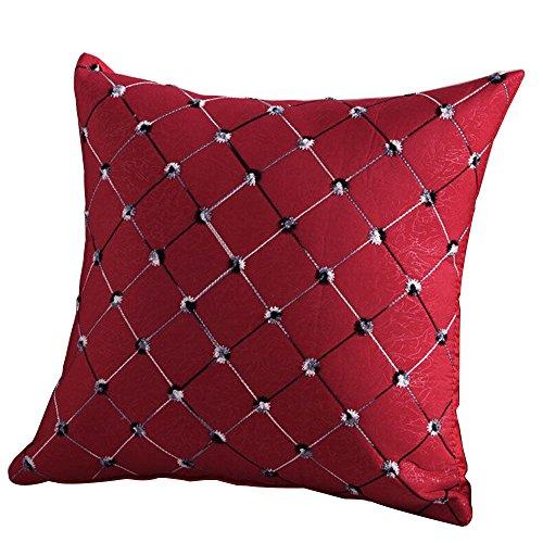 Bodhi2000 ® carré écossais Couvre-lit Taie d'oreiller décoratif Housse de coussin Taie d'oreiller 43,2 x 43,2 cm