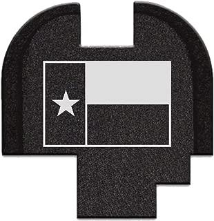 BASTION Laser Engraved Rear Cover Slide Back Plate for Springfield XD-S Mod.2 9mm/40Cal - Texas Flag
