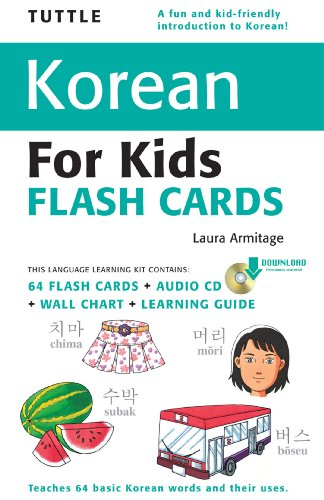 Tuttle Korean for Kids Flash Cards Kit: (Includes 64 Flash Cards, Downloadable Audio, Wall Chart & Learning Guide) (Tuttle Flash Cards) (English Edition)