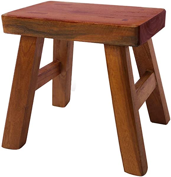 Golden Sun Solid Wood Small Stool For Kids Foot Stool Waterproof 12 Inch