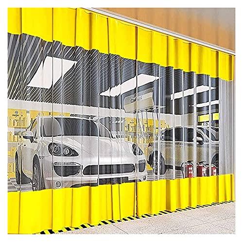 Lona Impermeable Exterior Tienda Panel lateral Los 4m / 3m / 2m / 1m, Impermeable Transparente Exterior Cortina de vinilo con panel de lona transparente y ojales para pérgola, porche, cenadores, Amari