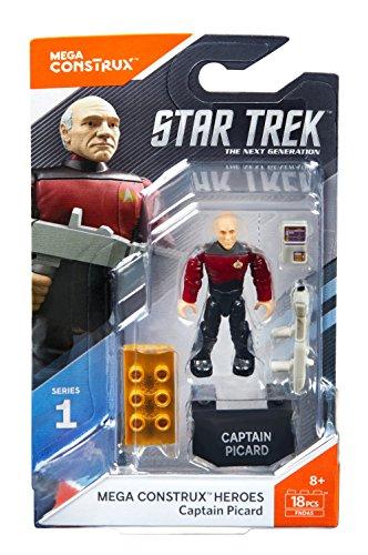 Mega Construx - Heroes Series 1 - FND65 - Star Trek: The Next Generation Captain Picard Figure