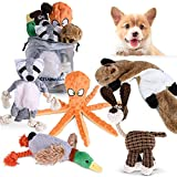 CITAMAMA Juguete para Perro Chirriante, 5 Paquete Juguetes con Sonido para Perros Juguetes de Peluche para Juguete para Masticar Cachorros Juego Interactivo para Perros