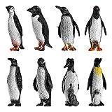 TOYANDONA 8 Piezas de Plástico Océano Animal Pingüino Figura de Juguete para Niños Bebé Fiesta Favor Pingüino Juguetes Regalos