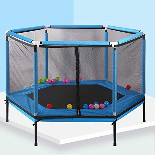 Zhangl Kids Junior Trampolines Small 6 Side Trampoline for Children With Safety Net Enclosure And Foam Pad, Best for Sports Trampoline Complete Set For Indoor Outdoor Round Children'S Bouncer Activity