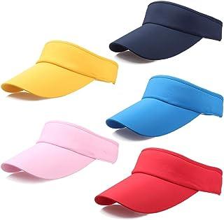 5 PC Colored Sun Visor Bingo Vegas Golf Beach UV Protection Sports Hat for Women