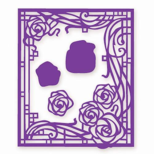 DIY ponsvorm roos achtergrond metaal stansvormen voor het maken van doe-het-zelf scrapbooking handwerk papier decoratieve kaarten reliëfstempel