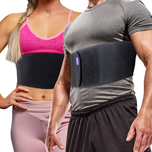 Everyday Medical Broken Rib Brace for Men and Women - Bamboo Charcoal Rib Support Compression Brace - accelerates The Healing of Cracked, Dislocated, Fractured and Post-Surgery Ribs - Small/Medium