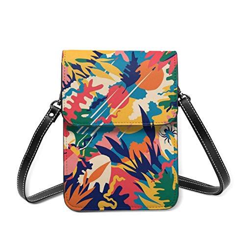 Garden Whimsical Flower Estética Crop Women Phone Purse, Small Crossbody Bag Mini Cell Phone Pouch Bandolera, Monedero Monedero