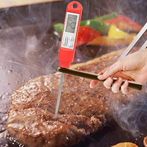 Omabeta Medidor de Temperatura de Alimentos Termómetro de Barbacoa Pantalla LCD para Temperatura del Agua para Hotel