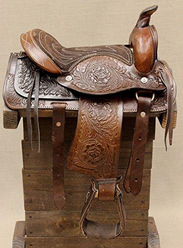 10' Pony Horse Saddle Kids Cowboy Cowgirl Pleasure Leather Brown Western Saddle