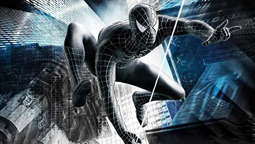 Spiderman Negro Puzzles 1000 Pedazos, Niños Cognición, Juguetes Adultos, Juegos Rompecabezas De Inteligencia De Madera,Descompresión, 75 * 50 Cm