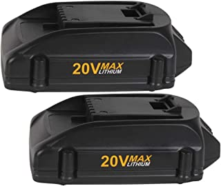 VANTTECH 2 Pack 2.0Ah WA3520 Replace for Worx 20V Battery WG151s WG155s WG251s WG255s WG540s WG545s WG890 WG891