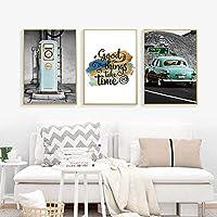 ZJMI Impresión De Lienzo,Arte Moderno Pintura En Tela, Poster Highway Alquiler De Cabinas Telefónicas Lienzos Pintura Mural Fotos Salón Home No Decoraion Enmarcado
