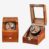 JHSHENGSHI Shaker Reloj mecánico de Madera Maciza Caja de Reloj automática Caja de Almacenamiento Medidor de Transferencia Reloj Individual para el hogar Moda