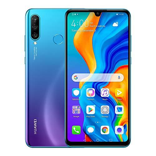 Price comparison product image Huawei P30 Lite Smartphone(128GB,  4GB RAM) 6.15 inch Kirin 710 Octa Core, AI Triple Camera, 32MP Selfie 4Cameras, Dual SIM US+Latin 4G LTE GSM Factory Unlocked-International Version(Garland Blue