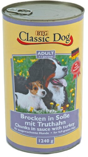 6er Pack Classic Dog Dose Truthahn 6x1240g