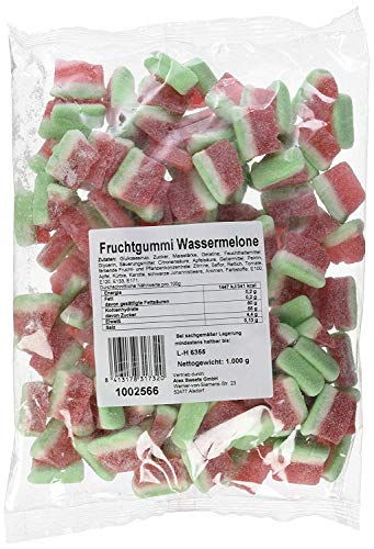 1 kg Fruchtgummi Wassermelonen gezuckert mit Wassermelonen geschmack