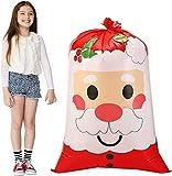 "3 PCs Jumbo Holiday Santa Gift Bag 56""x36"" with Gift Tags for Christmas Season, Gift Giving, Holiday Presents, Giant Gifts Decorations"