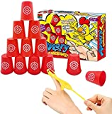 LAFALA Slingshots Chicken Rubber Chicken 12 Dart Cups Flying Chicken Shooting Games Fidget Toys...